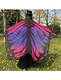 ELECTROPRIME Gradient Color Chiffon Butterfly Wing Cape - B078GZB4RQ