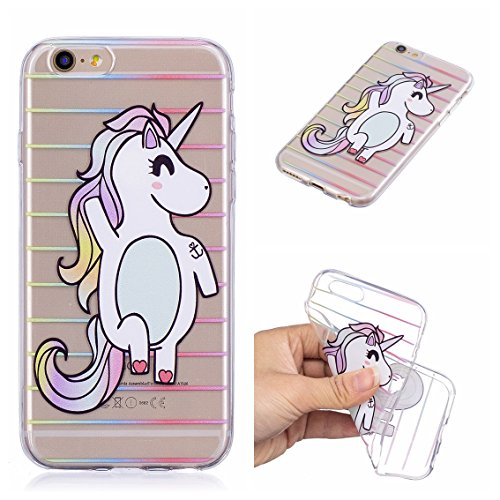 Coque iPhone 6 Plus, iPhone 6S Plus Case, Voguecase [Ultra Fin] [Anti Choc] [Anti Rayures] Premium TPU Silicone, Exact Fit / Léger / Souple Housse Etui Coque Pour Apple iPhone 6 Plus/6S Plus 5.5 (Love Licorne 13