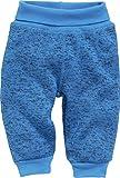 Schnizler Unisex Baby Jogginghose Pump-Hose Strickfleece mit Strickbund (Blau 7), 74