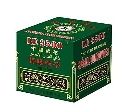LE 3500 - Gunpowder - Thé Vert à la Marocaine - Préparation de Thé Marocain - Boîte de 200 gr