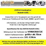OVITAN Hundegitter XL fürs Auto 10 Streben universal zur Befestigung an den Kopfstützen der Vordersitze – für alle Automarken geeignet – Modell: V10XL - 3