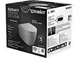 Duravit Wand-WC-Set ME by STARCK,rimless,Durafix TS, weiß, inkl. WC-Sitz mit Absenkautomit , 45300900A1