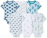 Care Baby - Jungen Kurzarm-Body im 3er und 6er Pack Blau (Blue Melange 705), Herstellergröße: 62