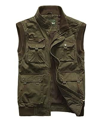 Vest men multi pocket outdoor blog large size fishing vest for Fishing vest amazon