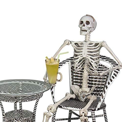 WAOBE Halloween Skelett, Gruselig Skelett Skelett (67 Zoll), Haunted House, Geheime Zimmer Veranstaltungsort Requisiten
