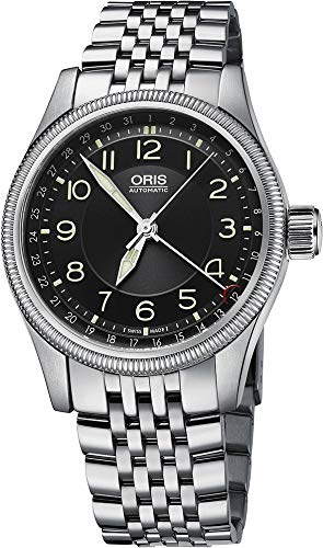 Oris quadrante nero in acciaio INOX orologi uomo 75476794034MB