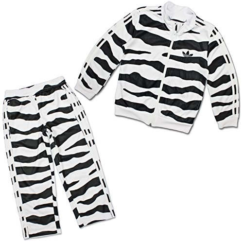 ADIDAS ORIGINALS JEREMY SCOTT TRAININGSANZUG KINDER SPORT ANZUG WHITE TIGER 104, Größe:104;Farbe:Schwarz/Weiß (Tiger Adidas)