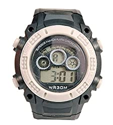 Surya Sporty Look Digital Black Dial watch for Kids in Grey Color -SS02