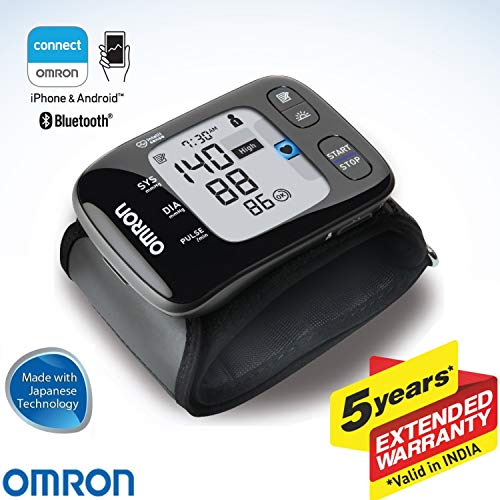 Omron HEM 6232T Wrist Blood Pressure Monitor (Black)