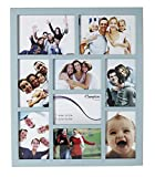 GAL9APBL Gallery High Quality Blue Seven 4x6in/A6 (10x15cm) & Two 5x7in (13x18cm) Beautifully Crafted Multi Aperture Photo Frame Wall Hang Only by Hampton Frames