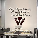 yaoxingfu Citar Calcomanías de Pared Oración de la bendición Etiqueta de la Pared Vinilo removible Cita Papel Tapiz Hogar Cocina Decoración Familia Bendecir Calcomanía Una Tarjeta de Color 57x44cm