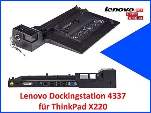 Original Lenovo Dockingstation 4337 für ThinkPad X220 mit Schlüssel (Laptop Lenovo X220)