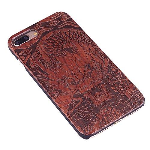 Hülle für iPhone 7 plus , Schutzhülle Für iPhone 7 Plus Artistic Carving Muster Rosewood + PC Bordure Schutzmaßnahmen zurück Fall Shell ,hülle für iPhone 7 plus , case for iphone 7 plus ( SKU : Ip7p14 Ip7p1451k