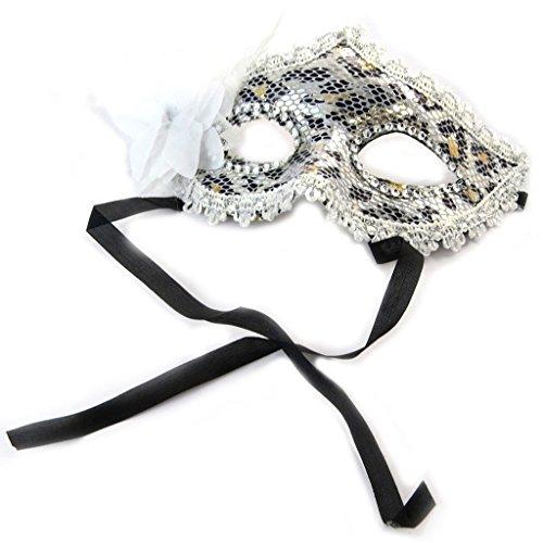 Schöpfer Maske (Schöpfer maske 'Carnaval De Venise'silber weiß)