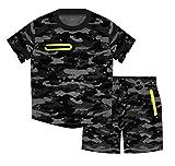 ZipZappa Estampado militar Lote de 2 piezas Pantalones cortos y camiseta de manga corta,...