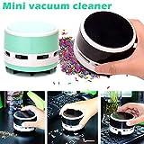 Coomir Drahtloser Tragbare Mini Vakuum-Schreibtisch Reiniger Staub Kehrmaschine für Büro Tastatur Zuhause Pink - 3