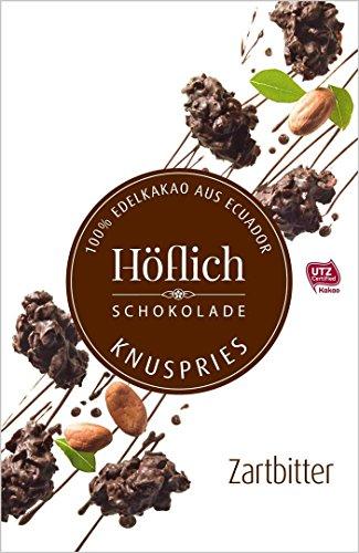 Knuspries in Faltschachtel von Höflich Schokolade (2er Pack Zartbitter)