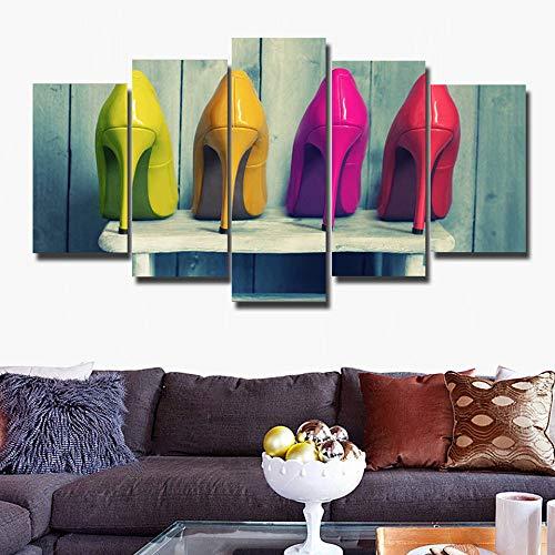 adgkitb canvas Hd leinwand malerei fünf stück Mode obraz wandkunst Moderne high Heels Decor Fresh Home Schlafzimmer schönheitssalons