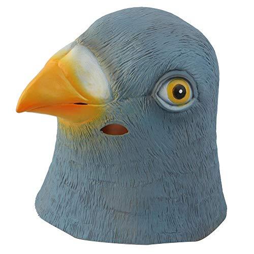 Kopf Vogel Kostüm - Duokon Erwachsene Latex Taube Vogel Kopf Maske Kostüm Halloween Kostüm Cosplay Partei Requisiten Maske