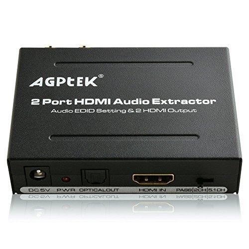 AGPtek 1 x 2 Divisor Extractor integrado Audio L/R