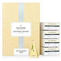 Tea Forté® BULK PACK White Ginger Pear White Tea, 48 Handcrafted Pyramid Tea Infusers