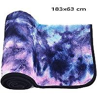 Preisvergleich für BAIVIT Yoga Handtuch Umweltschutz Anti-Rutsch-Batik-Druck Yogamatte Falttuch Pilates Sport Handtuch 183X63cm