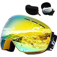 756a8124725cdc JoySki 7 couleurs professionnel unisexe Masque de ski avec miroir  Revêtement anti-brouillard UV400 protection