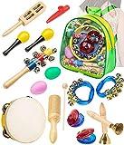 Smarkids Instruments de musique jouets pour tout-petits- Jouets éducatifs pour enfants d'âge préscolaire Instruments de percussion Jouets d'apprentissage de la musique ancienne avec sac à dos...