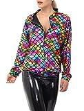Islander Fashions Damen Metallic Fisch Ma�stab Meerjungfrau Regenbogen Jacke Damen Langarm Party Wear Bomber Jacke X gro�