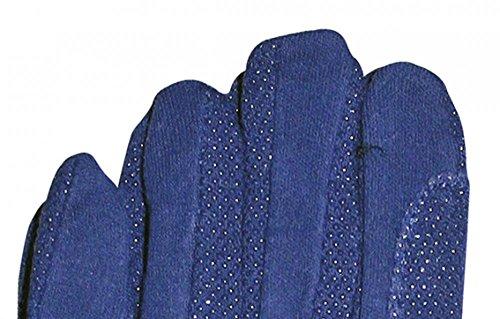 HKM Damen Reithandschuh aus Baumwolle Handschuhe, Blau, XL