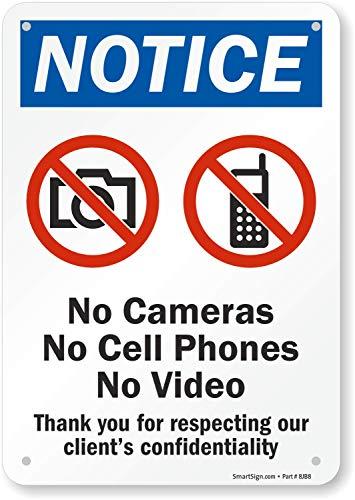 S-video-grafik (smartsign Sicherheit Zeichen, Legend Hinweis: Kameras keine Handys keine Video mit Grafik, schwarz/blau/rot auf weiß, 10