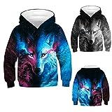 elegantstunning Children Print Hoodie Casual Cool Hooded Pullover Sweatshirt Top