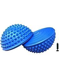 Micogo Curvada Erizo Estilo Cojines de Equilibrio con 1 Pomba, juego de 2, Azul
