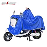 AllExtreme EX668RB Nylon PVC Hooded Full Body Waterproof Rain Coat Suit Poncho Jacket