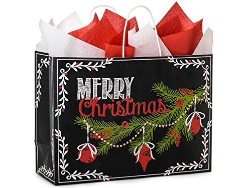 Nashville Wraps Shopping Gift Bags 25 Count - ChalkBoard Wishes - Vogue by Nashville Wraps