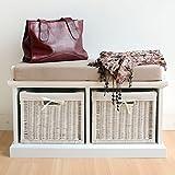 Tetbury White Storage Bench with Cushion