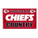 NFL Kansas City Chiefs In Country Flag with Grommets, 3 x 5-Foot