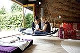 Relax-Schaukel - LifestylePlus XL (extra lang & extra breit) / Maße: 166 x 76 x 25 cm / Gewicht: 10 kg / Farbe: weiß/schwarz