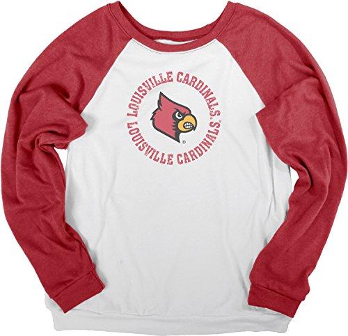NCAA Louisville Cardinals Damen Fleece-Hemd, Größe XL, Weiß / Rot