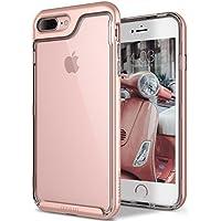 Funda iPhone 8 Plus, Funda iPhone 7 Plus, Caseology [serie Skyfall] cubierta protectora transparentee clara delgada antiaranazos con marco protector [Oro Rosa - Rose Gold] para Apple iPhone 7 Plus (2016) / iPhone 8 Plus (2017)