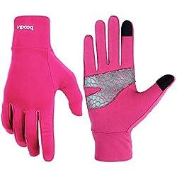 flycoo guantes calentables con pantalla táctil de teléfono móvil y accesorios bicicleta Ciclismo Camping Deporte Guantes para mujer y hombre Chic Fashion, Rose