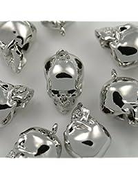 4piezas de oro brillante calavera perlas colgantes Charm para pendientes collar Enlaces de conectores de abalorios de metal colgantes pulseras etc. joyas suministros–annielov # p-57-sv