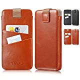 KAVAJ iPhone X Tasche Leder Miami Cognac-Braun iPhone X