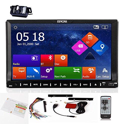 EinCar Neueste Win8 GPS Navigation kapazitive Multi-Touch-Screen-Auto-DVD-Spieler in des Schlag-Auto Fahrzeug Stereo-USB-Sd FM AM RDS 2 L?rmkopfeinheit Funk R¨¹ckfahrkamera - Fighting Universal System