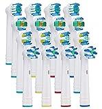 Yanaboo 16 pezzi teste di spazzolino da denti Testine di ricambio per spazzolini Braun Oral-B Vitality Pro Smart Genius per Precision Floss Cross Whitening Clean
