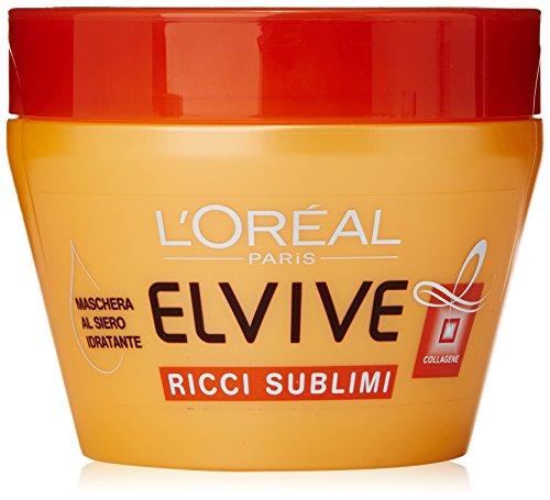 L'Oréal Paris Elvive Olio Straordinario Ricci Sublimi - Maschera idratante per capelli ricci o mossi - 300 ml
