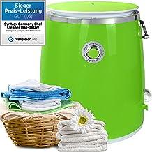 Syntrox Germany–3KG de Wm 380W lavadora con camping centrifugado lavadora Mini lavadora (verde)