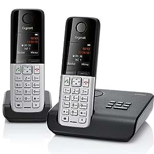 Gigaset  C300A Duo Téléphone sans fil  DECT/GAP Répondeur 2 combinés Noir