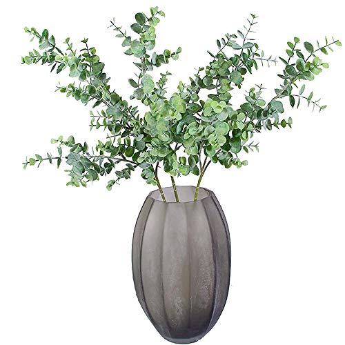 Aisamco 3 Stück Künstliche Eukalyptus Zweige Pflanzen Faux Eukalyptus Blätter Spray Künstliche Grün Floral Stiele 35