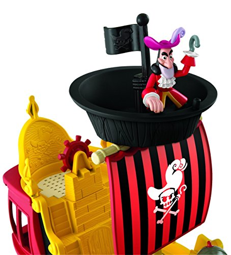 Mattel Fisher-Price Y2265 – Jake und die Nimmerland Piraten Käpt'n Hooks Jolly Roger Piratenschiff - 4